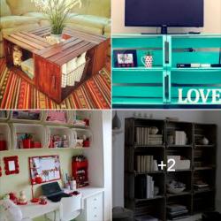 dicas de como aproveitar caixotes de madeira em decoraação