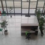 Recepção com business center em escritórios compartilhados. Coworking e self storage em curitiba