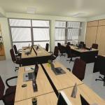 Mesas e estações de trabalho na Megaself, ótimo lugar para seu networking